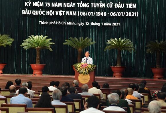 TPHCM họp mặt kỷ niệm 75 năm ngày Tổng tuyển cử đầu tiên bầu Quốc hội  ảnh 2