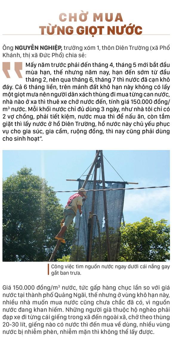 Quảng Ngãi: Khô cháy đồng, dân xách thùng mua từng giọt nước ảnh 6