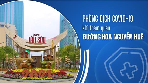 Phòng dịch Covid-19 khi tham quan Đường hoa Nguyễn Huệ