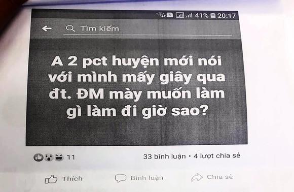 """Cho rằng bị """"xúc phạm"""" trên facebook, Phó Chủ tịch huyện đề nghị công an xử lý ảnh 3"""