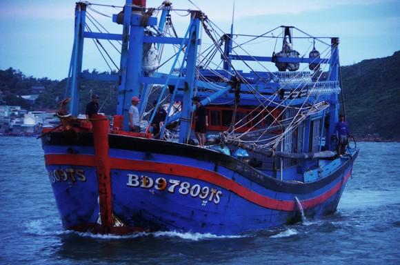 Tàu cá của ngư dân Khánh đưa ngư dân bị nạn vào bờ. Ảnh: CÔNG CƯỜNG