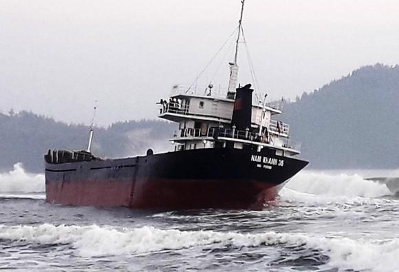 Tàu chở gần 2.000 tấn bột mì bị nạn trên vùng biển Đề Gi ảnh 1