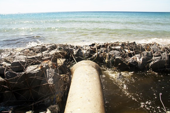 Xuất hiện cống xả nước thải đen ngòm ra bãi biển Bình Định ảnh 2