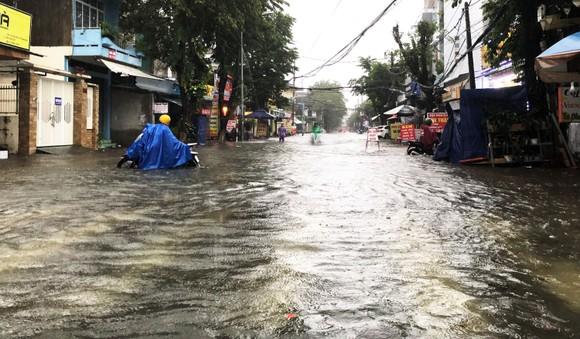 Mưa lớn khiến TP Quảng Ngãi bị ngập sâu ảnh 10