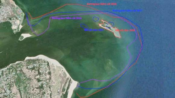 Kiểm tra cồn cát nổi bất thường tại biển Cửa Đại ảnh 3