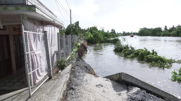 Sạt lở nghiêm trọng tại xã Cẩm Sơn khiến một đoạn đường chìm xuống sông Ba Rài ảnh 1