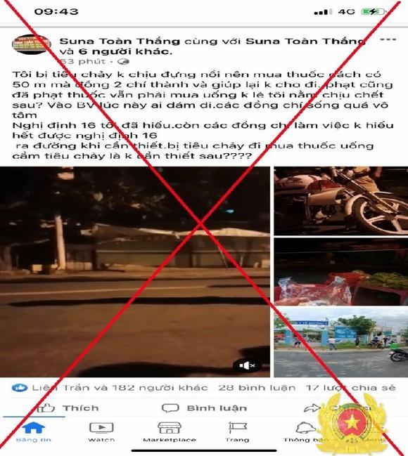 Bị phạt 7,5 triệu đồng vì đăng tin sai sự thật trên mạng xã hội  ảnh 1