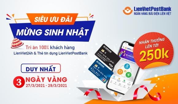 Tặng 100.000 đồng cho khách hàng kích hoạt thẻ tín dụng trên LienViet24h ảnh 1