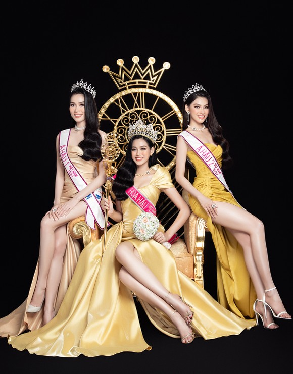 Nhan sắc Hoa hậu Đỗ Thị Hà và 2 Á hậu sau 1 tháng đăng quang ảnh 2