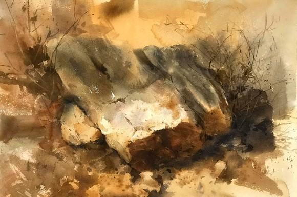 Côn Đảo thiêng liêng, sống động trong tranh màu nước  ảnh 4