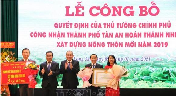 TP Tân An hoàn thành xây dựng nông thôn mới ảnh 1