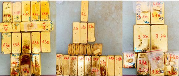 Bắt đối tượng cầm đầu vụ vận chuyển trái phép 51kg vàng ở An Giang ảnh 5