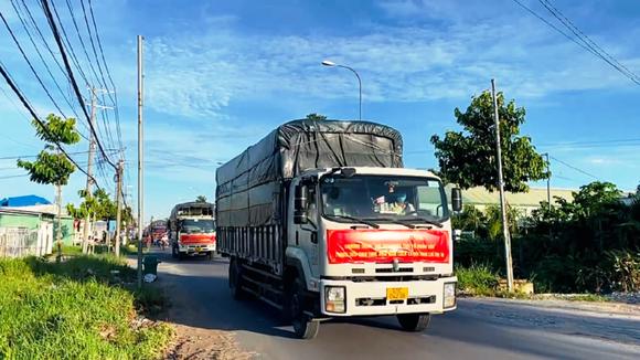 Công an tỉnh An Giang tặng 110 tấn gạo cho người nghèo khó ảnh 1