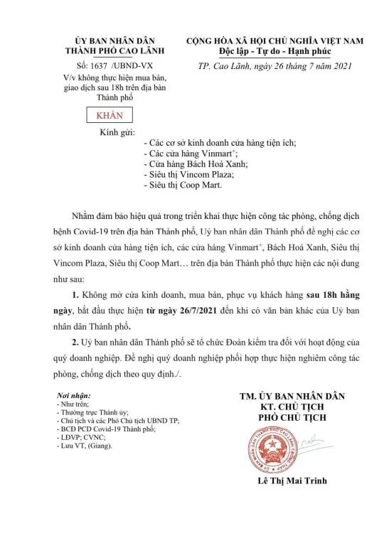 Tiền Giang: người dân không ra đường từ 18 giờ đến 6 giờ sáng hôm sau ảnh 2