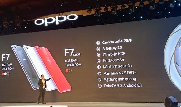 OPPO F7 chính thức được giới thiệu tại Việt Nam ảnh 2