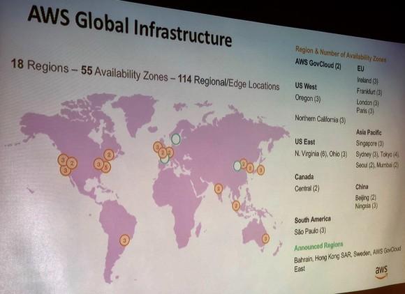 Đám mây Amazon Web Service với 55 vùng sẵn sàng ảnh 1