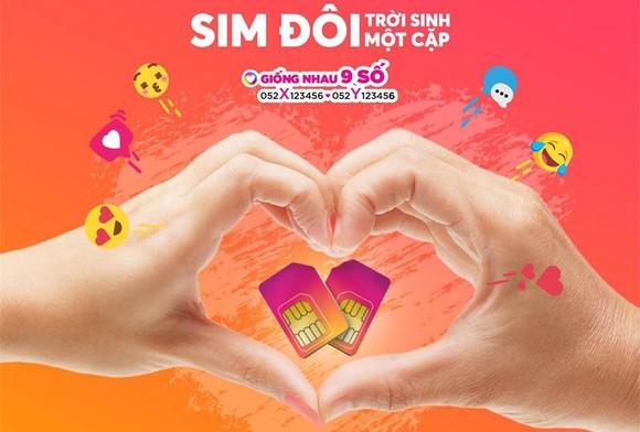 """Vietnamobile tung ra SIM đôi """"Trời sinh một cặp""""  ảnh 1"""
