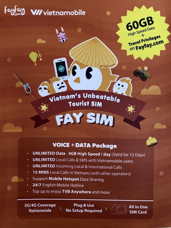 Fayfay.com và Vietnamobile hợp tác ra FAY SIM cho du khách đến Việt Nam ảnh 1
