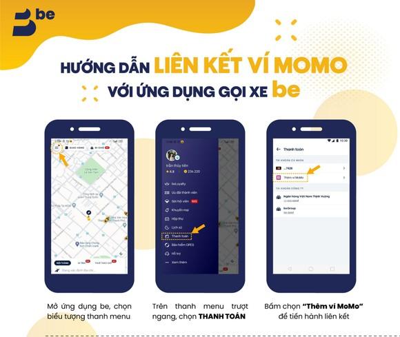 Ứng dụng gọi xe be đã thanh toán được bằng ví MoMo  ảnh 2
