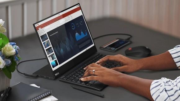 Lenovo: ThinkVision M14t với thiết kế màn hình14 inch FHD, nặng 698 gram ảnh 2