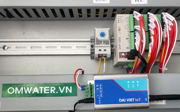 Thiết bị IOT- Đại Việt gắn trong hệ thống xử lý nước