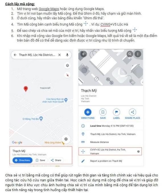 Định vị, dẫn đường bằng mã cộng của Google Map để cứu hộ ảnh 1