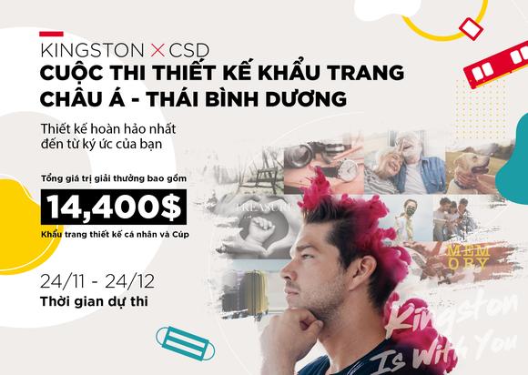 Kingston hợp tác cùng CSD tổ chức Cuộc thi thiết kế khẩu trang  ảnh 1
