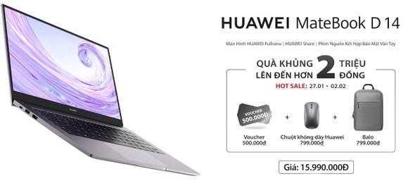 Huawei MateBook D 14 được bán online với giá gần 16 triệu đồng ảnh 3