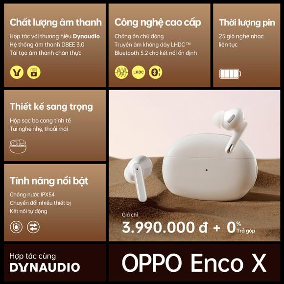 Hợp tác cùng Dynaudio, OPPO ra mắt tai nghe không dây cao cấp Enco X ảnh 6