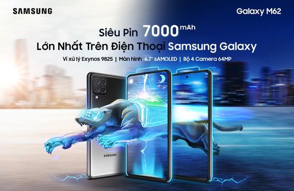 Galaxy M62 với Pin 7000mAh, hỗ trợ sạc nhanh  ảnh 2