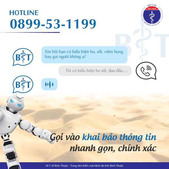"""""""Robot Call"""" phòng chống Covid-19 tiếp tục được ứng dụng tại Bình Thuận ảnh 2"""
