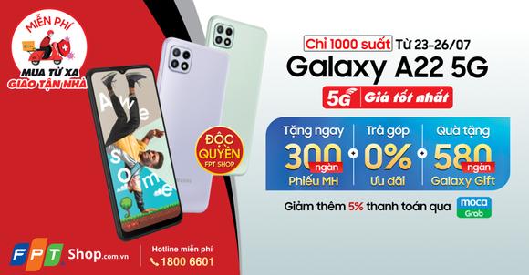 FPT Shop mở bán độc quyền Galaxy A22 5G  ảnh 3