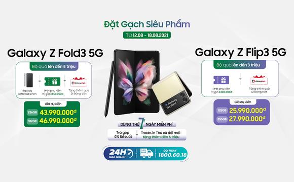 Đặt Galaxy Z Fold3 và Z Flip3 hôm nay, nhận ngay bộ quà đến 7 triệu đồng tại Di Động Việt ảnh 1
