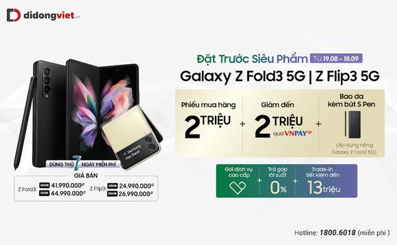 Số lượng cọc Galaxy Z Fold3 chiếm 60% tại Di Động Việt ảnh 1