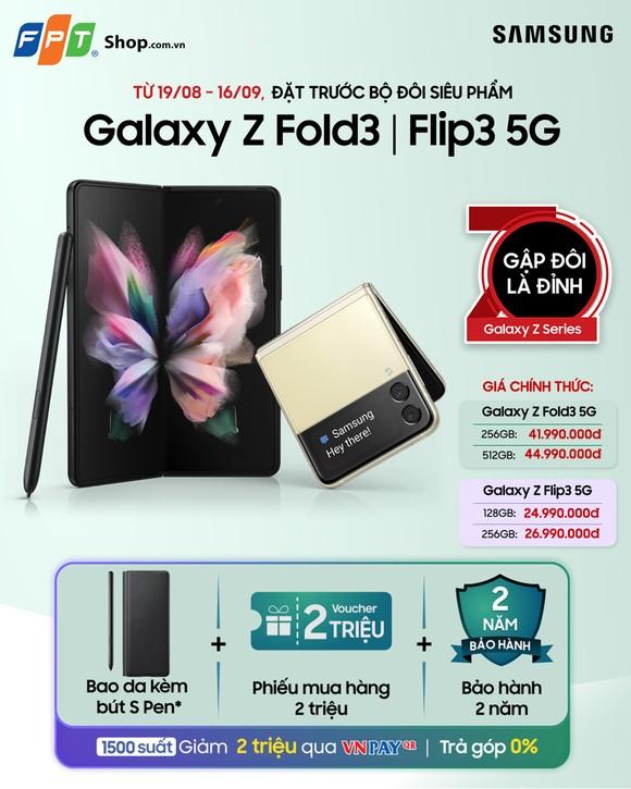 FPT Shop giảm 2 triệu đồng cho khách hàng đặt mua Galaxy Z Fold3 & Flip3 5G ảnh 1