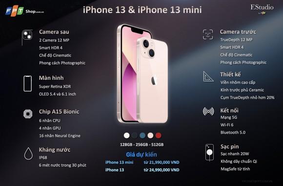 FPT Shop công bố giá dự kiến iPhone 13