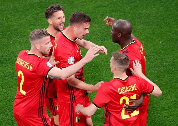 比利时球隊慶祝進球(圖源:互聯網)