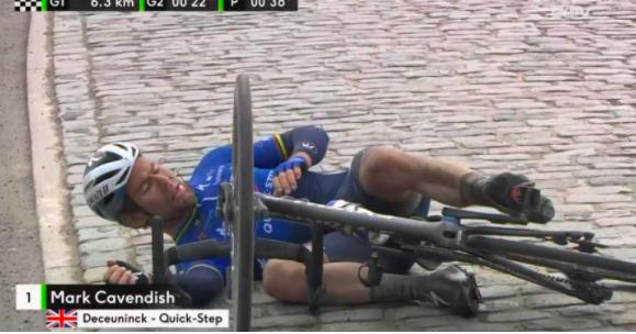 Pha té ngã của Mark Cavendish