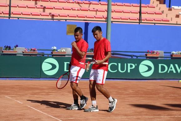 Đội tuyển Việt Nam chiến thắng vất vả ngày ra quân giải quần vợt Davis Cup ảnh 3