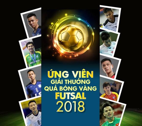 Danh sách ứng viên giải Quả bóng vàng futsal 2018