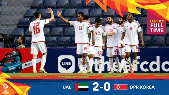 U23 UAE rộng cửa vào Tứ kết. Ảnh: AFC