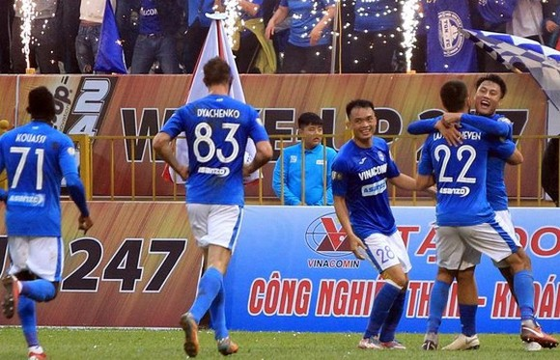 Than Quảng Ninh trở lại AFC Cup bằng chuyến làm khách tại Bali. Ảnh: Minh Hoàng