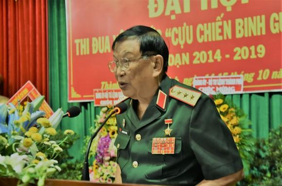 Thượng tướng Nguyễn Văn Được, Chủ tịch Hội Cựu chiến binh Việt Nam phát biểu tại Đại hội