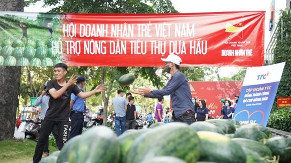 Hội Doanh nhân trẻ VN hỗ trợ tiêu thụ 40 tấn dưa hấu, thanh long cho bà con nông dân ảnh 3