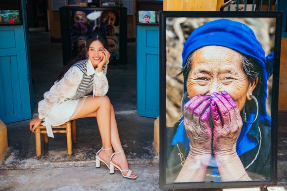 """Tiểu Vy hóa """"nàng thơ"""" tươi mới, tràn đầy năng lượng trong dự án """"Fashion Destination"""" của NTK Lê Thanh Hòa ảnh 7"""