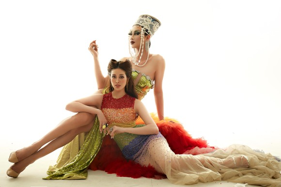 Hoa hậu Khánh Vân hoá thân thành Drag Queen cùng diễn viên BB Trần, Hải Triều ảnh 4