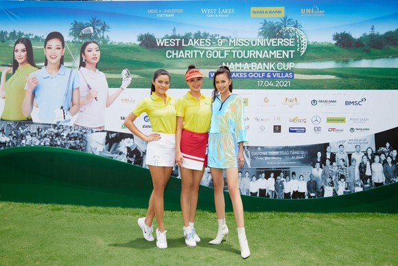 Giải Golf thiện nguyện Hoa Hậu Hoàn vũ Việt Nam quyên góp được 690 triệu đồng xây dựng 2 cây cầu tại tỉnh Long An ảnh 3