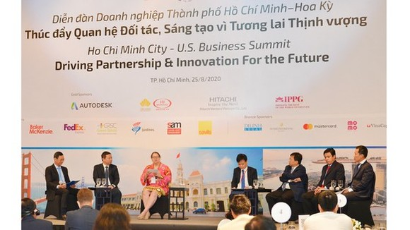 The HCMC - U.S. Business Summit: Driving Partnership and Innovation for the Future marking the 25th anniversary of US-Viet Nam diplomatic ties opens in HCMC. (Photo: SGGP)