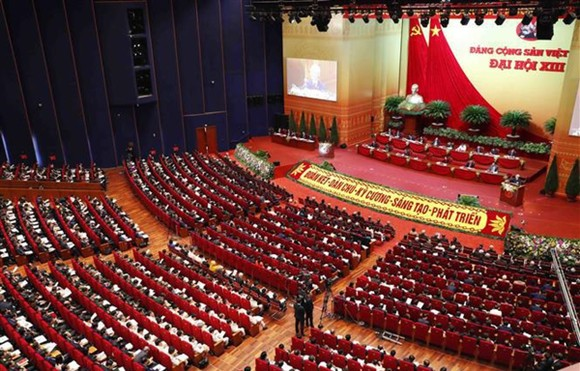 Overview of the opening ceremony of 13th National Party Congress (Photo: VNA)