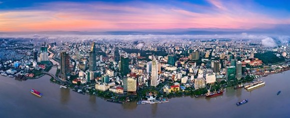 A view of HCM City from the Saigon River (Photo: VNA)